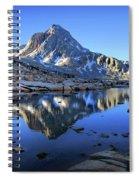 Mt Huxley Over Saphire Lake Morning - John Muir Trail Spiral Notebook