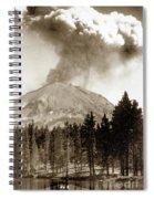 Mt. Lassen In Eruption Oct. 6, 1915 Spiral Notebook