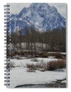 Mt Moran From Cattleman's Bridge Site Spiral Notebook