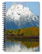 Mt Moran From Ox Bow Bend Spiral Notebook