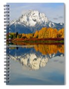Mt Moran From Ox Bow Bend On A Fall Morning Spiral Notebook