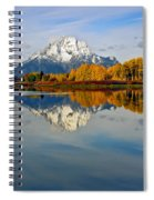Mt Moran From The Ox Bow Spiral Notebook