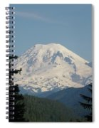 Mt Rainer From The Hills In Packwood Wa  Spiral Notebook