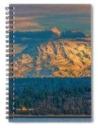 Mt Rainier Sunset Spiral Notebook