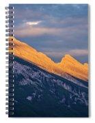 Mt Rundle Sunset Banff Spiral Notebook