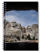 Mt Rushmore Tunnel Spiral Notebook
