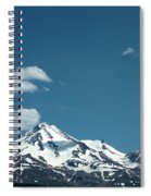 Mt Shasta With Heart-shaped Cloud Spiral Notebook