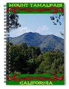 Mt Tamalpais Framed 5 Spiral Notebook
