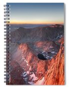 Mt Whitney And Pinnacles Sunrise - John Muir Trail Spiral Notebook