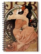 Mucha: Cigarette Paper Ad Spiral Notebook