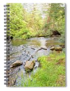 Mud Run, Pennsylvania, Pocono Mountain Stream Spiral Notebook