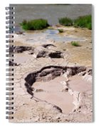 Mud Volcano Area In Yellowstone National Park Spiral Notebook