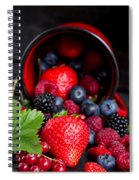Mug With Fresh Berries Spiral Notebook