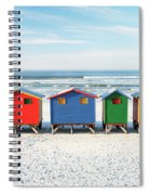 Muizenberg Beach Huts 2 Spiral Notebook