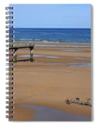 Mulberry Harbour, Omaha Beach, Normandy Spiral Notebook