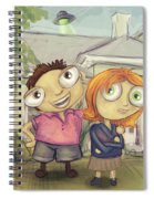 Mulder And Scully In Acadia Spiral Notebook