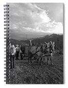 Mule Drawn Wagon Spiral Notebook