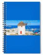 Multi Centre Greek Island Holidays Spiral Notebook