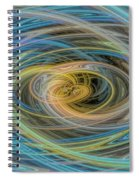 Multi Color Line Art Blue Yellow Gray Green Spiral Notebook