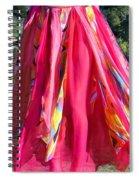 Multi-color Pink Skirt. Ameynra Design Spiral Notebook