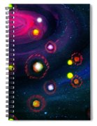 Multi-colored Constellation  Spiral Notebook