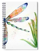 Multi-colored Dragonfly Spiral Notebook