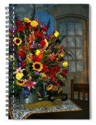 Multicolor Floral Arrangement Spiral Notebook