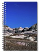 multicolored hills in Petrified Forest National Park Spiral Notebook