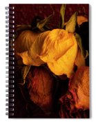 Multicolored Roses Wilting  Spiral Notebook