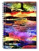 Multiple Underwater Sunsets Spiral Notebook
