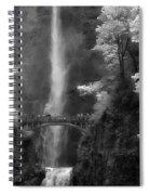 Multnomah Falls Bw Spiral Notebook