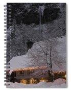 Multnomah Falls Christmas  Spiral Notebook