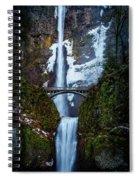 Multnomah Falls Frozen Spiral Notebook
