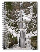 Multnomah Falls Winter Spiral Notebook