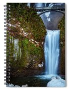 Multnomah Falls With Ice Spiral Notebook