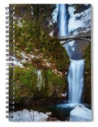 Multnomah Falls With Snow Spiral Notebook