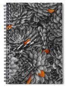 Mum Petals Bw Spiral Notebook