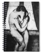 Munch The Kiss, 1895 - To License For Professional Use Visit Granger.com Spiral Notebook