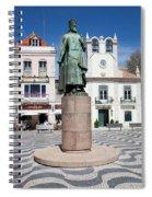 Municipal Square In Cascais Portugal Spiral Notebook
