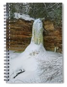 Munising Falls Frozen Spiral Notebook