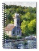 Munising Grand Island Lighthouse Upper Peninsula Michigan Pa 01 Spiral Notebook