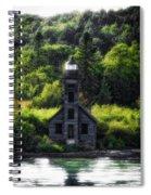 Munising Grand Island Lighthouse Upper Peninsula Michigan Vertical 01 Spiral Notebook