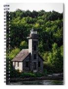 Munising Grand Island Lighthouse Upper Peninsula Michigan Vertical 02 Spiral Notebook