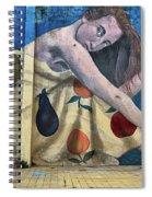 Mural Of A Woman In A Fruit Dress Spiral Notebook