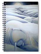 Mural  Winters Embracing Crevice Spiral Notebook