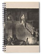 Murder Of Edith Cavell, First State By George Bellows 1882-1925 Spiral Notebook