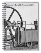 Murrays Portable Steam Engine, 19th Spiral Notebook