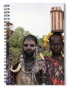 Mursi Tribesmen In Ethiopia Spiral Notebook