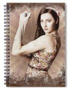 Muscle And Strength Pinup Poster Girl Spiral Notebook