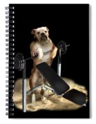 Muscle Boy Boxer Lifting Weights Spiral Notebook
